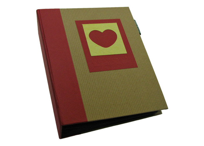 Dorr Green Earth Red Heart Mini Max 6x4 Slip In Photo Album for 120 Photos - 1