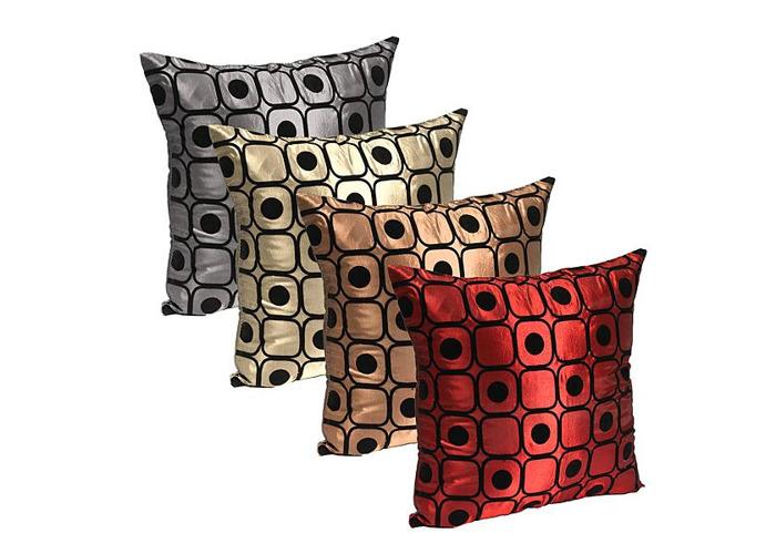Dot Silk Pillow Throw Case Car Cushion Cover Decoration Sofa Bed - 1
