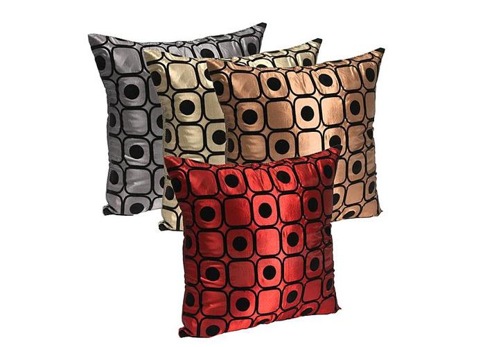 Dot Silk Pillow Throw Case Car Cushion Cover Decoration Sofa Bed - 2