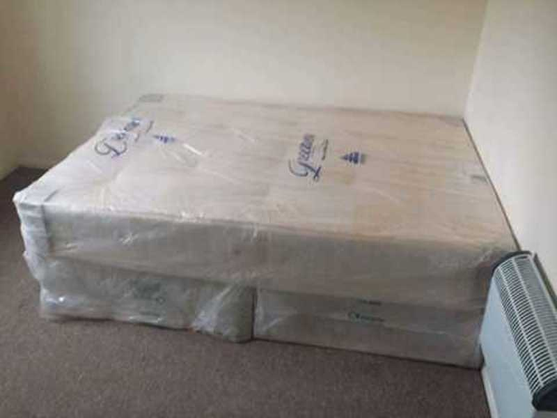 double 4ft6 orthopedic bed - 1