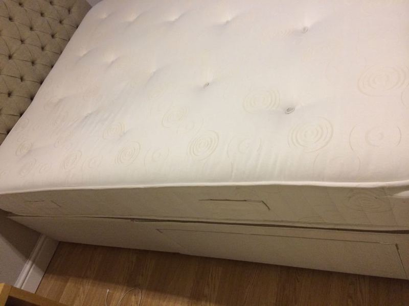 Double Bed with Mattress and Headboard  - 1