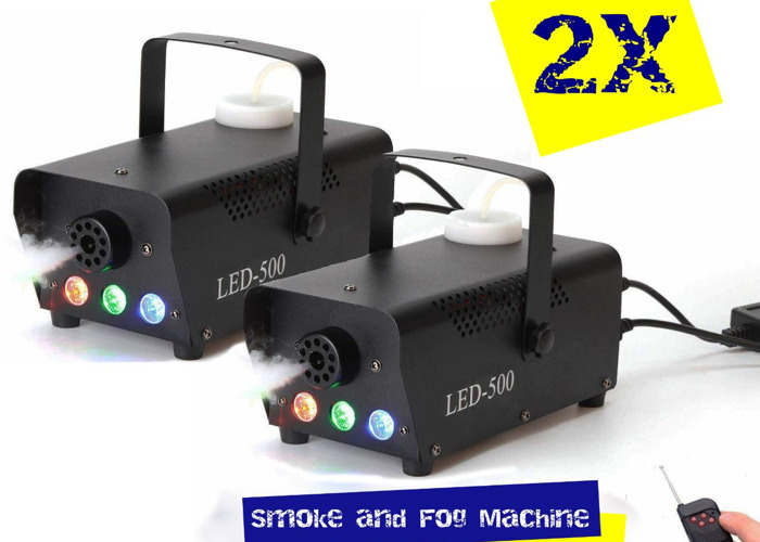 Double Kit of Smoke and Fog Machine with built-in LED lights - 1