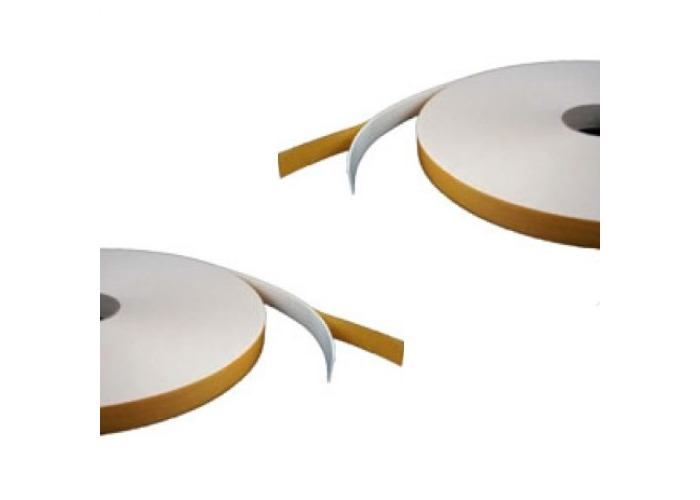 Double Sided Foam Tape - White - 5mm x 10mm x 12m - Security / Glazing / Craft Tape - 1