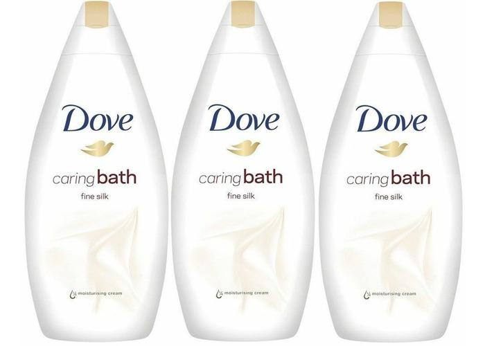 Dove Caring Body Bath Wash Fine Silk- indulging( 3 X 500ml ) CHEAPEST - 1