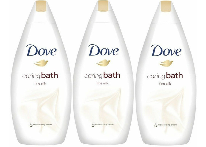 Dove Caring Body Bath Wash Fine Silk- indulging( 3 X 500ml ) CHEAPEST - 2