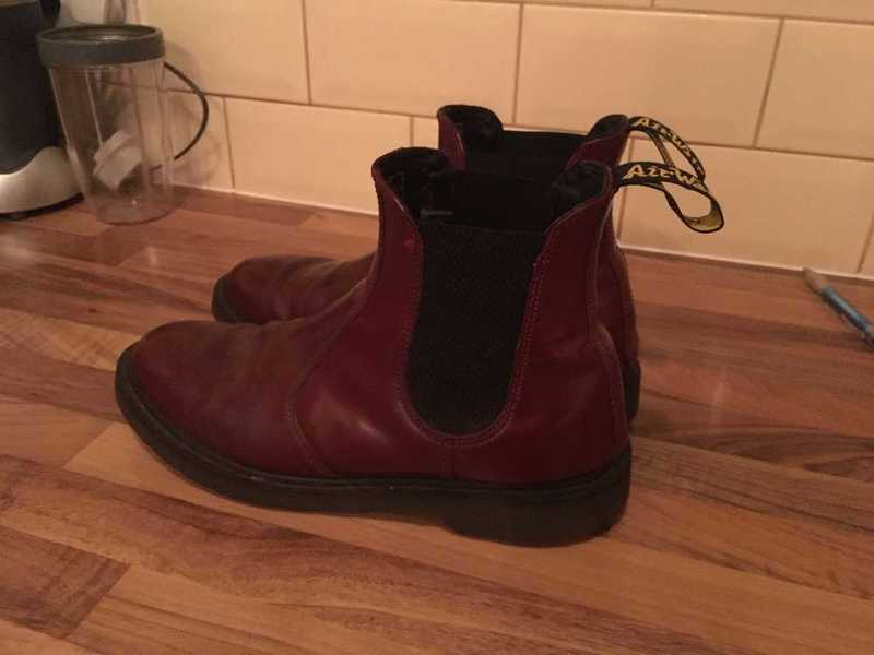 Dr Martens Chelsea Boots | Size 8 UK Cherry Coloured - 2