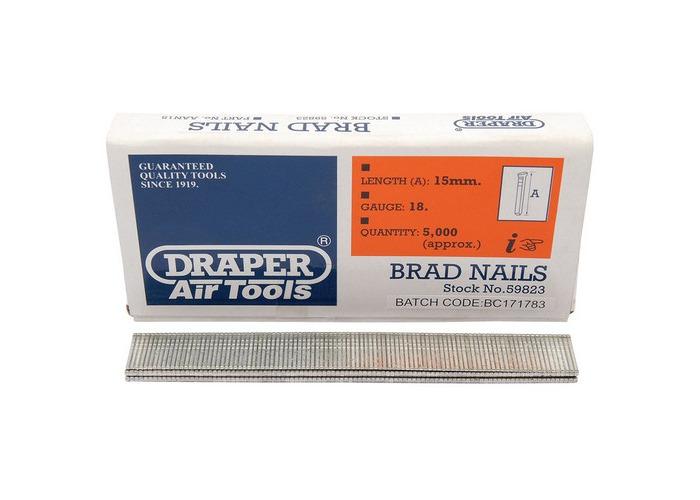 Draper 59823 15mm Brad Nails (5000) - 1