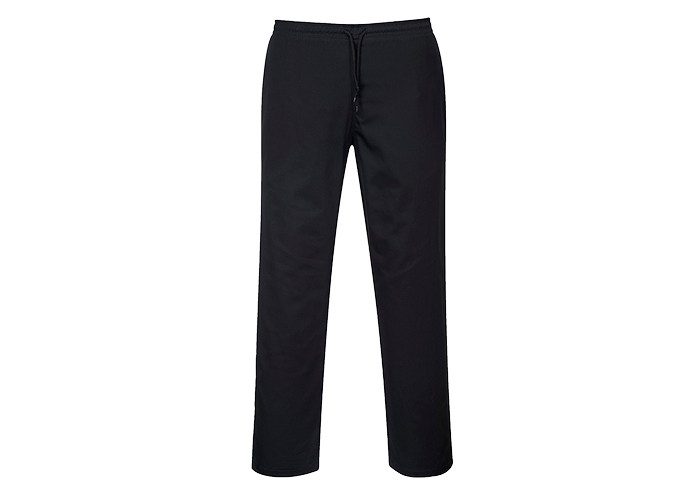 Drawstring Chef Trousers  Black  3 XL  R - 1