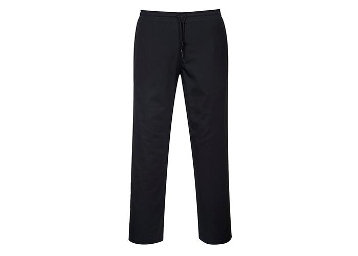 Drawstring Chef Trousers  Black  Medium  R - 1