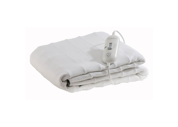 Dreamland 16156 Cosy Toes Extra Large Double Under Blanket in White - 2