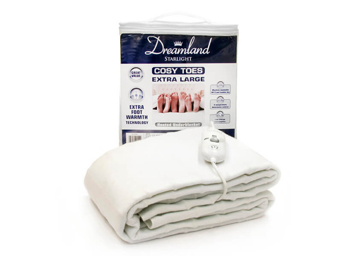 Dreamland 16157 Cosy Toes Extra Large King Size Under Blanket - White - 1