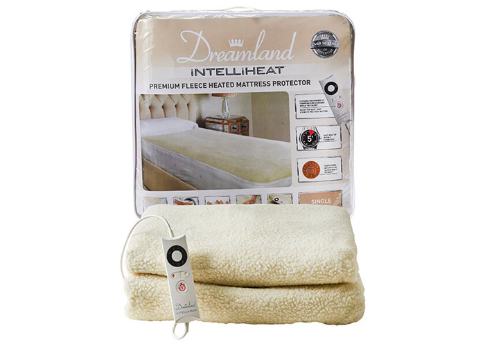 Dreamland Intelliheat Premium Fleece Heated Mattress Protector Single - 1