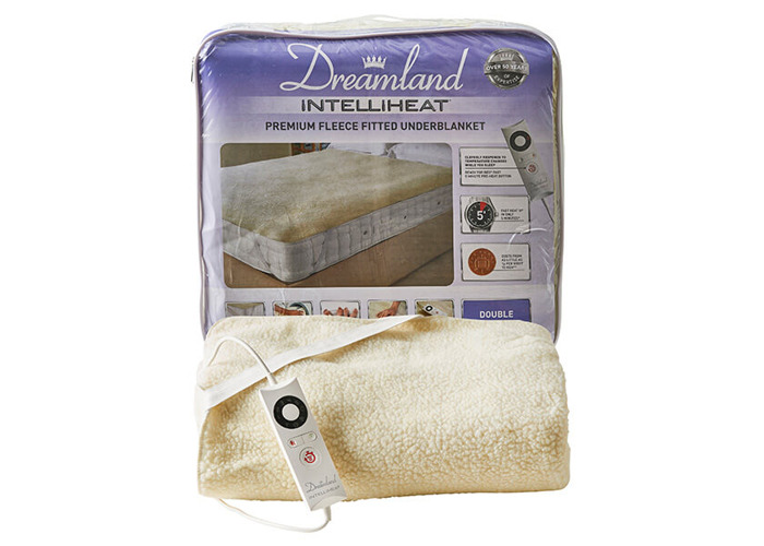 Dreamland Intelliheat Soft Fleece Easy Fitted Underblanket Double - 1