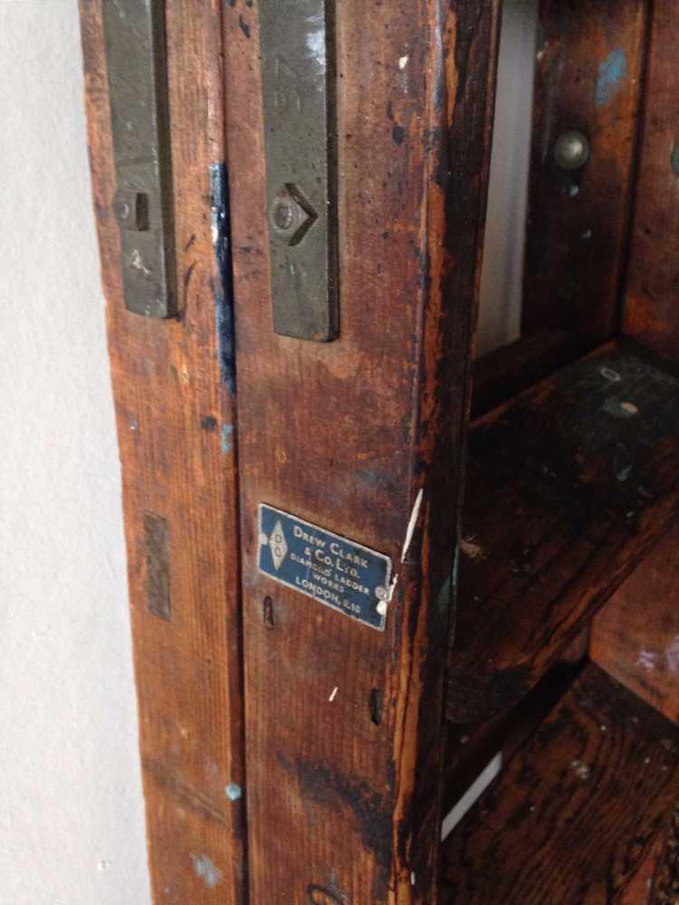 DREW CLARK & CO wooden ladder - 2