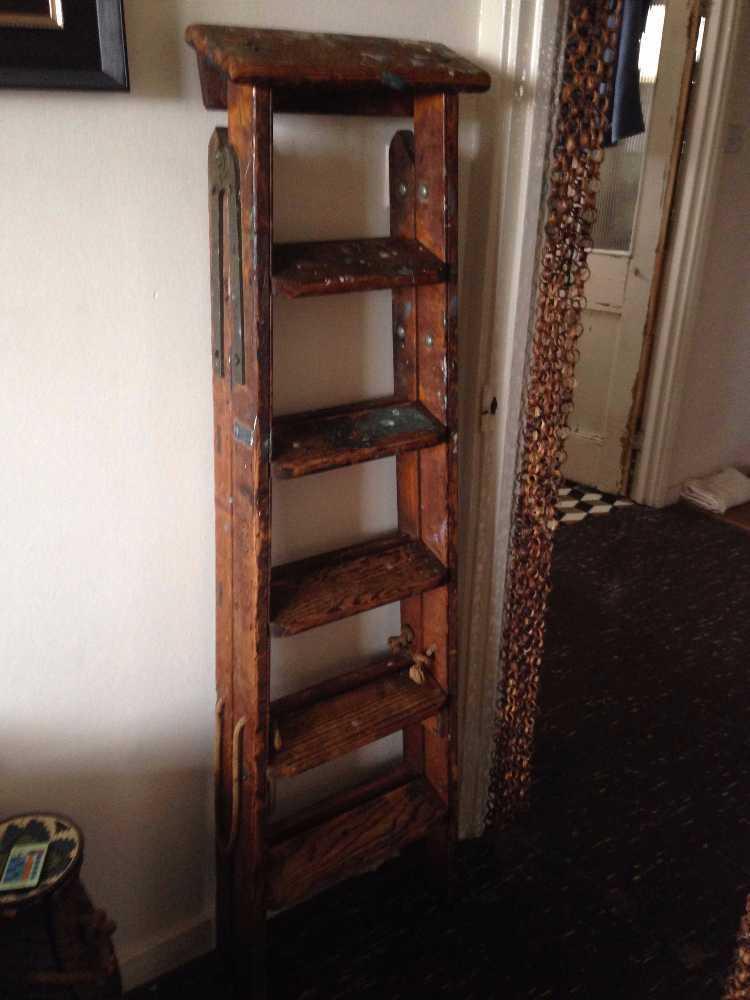 DREW CLARK & CO wooden ladder - 1