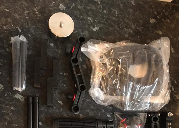 DSLR Camera Shoulder Support Rig Kit with Cage & Matte Box - 2