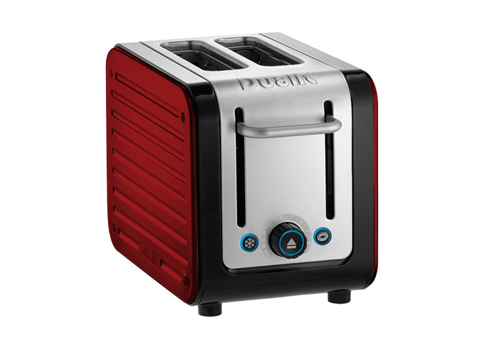 Dualit Architect 2 Slot Black Body With Apple Candy Red Panel Toaster - 1