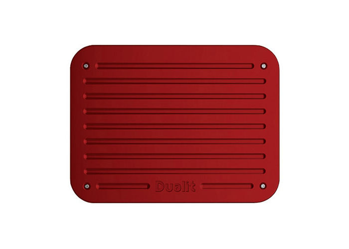 Dualit Architect 2 Slot Black Body With Apple Candy Red Panel Toaster - 2