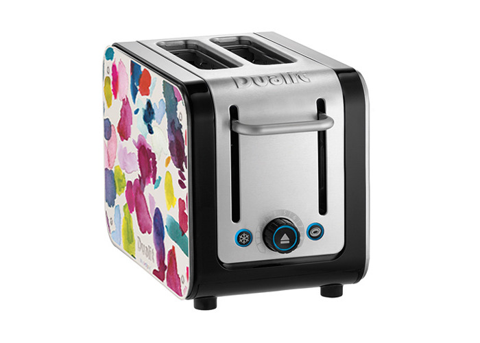 Dualit Architect 2 Slot Black Body With Bluebellgray Panel Toaster - 1