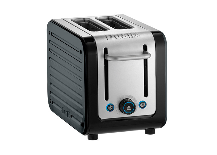 Dualit Architect 2 Slot Black Body With Metallic Charcoal Panel Toaster - 1