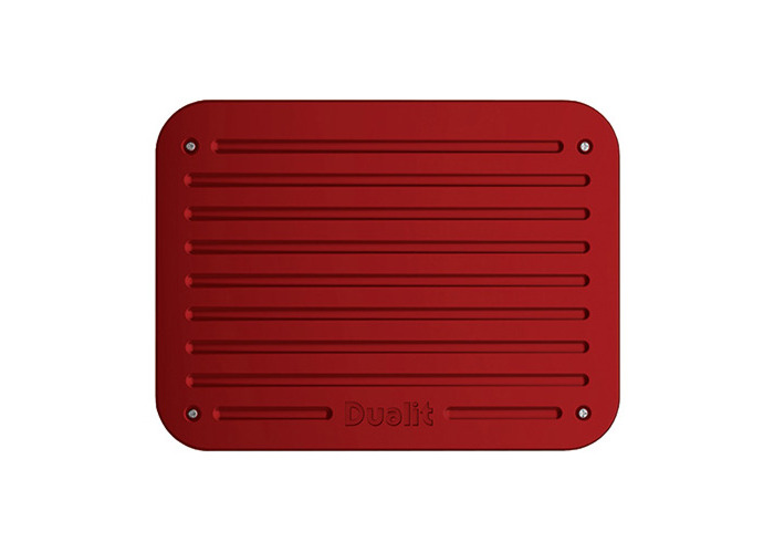 Dualit Architect 2 Slot Grey Body With Apple Candy Red Panel Toaster - 2