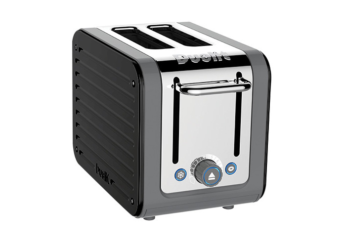 Dualit Architect 2 Slot Grey Body With Gloss Black Panel Toaster - 1