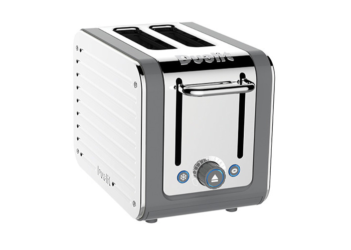 Dualit Architect 2 Slot Grey Body With White Panel Toaster - 1