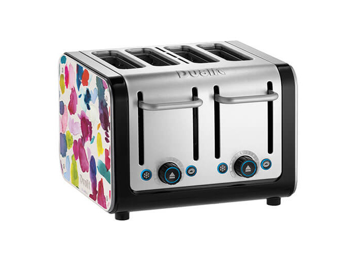 Dualit Architect 4 Slot Black Body With Bluebellgray Panel Toaster - 1