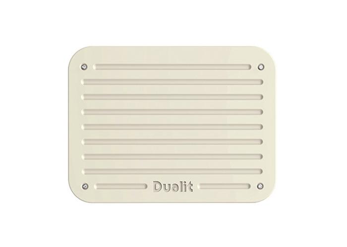 Dualit Architect 4 Slot Black Body With Canvas White Panel Toaster - 2