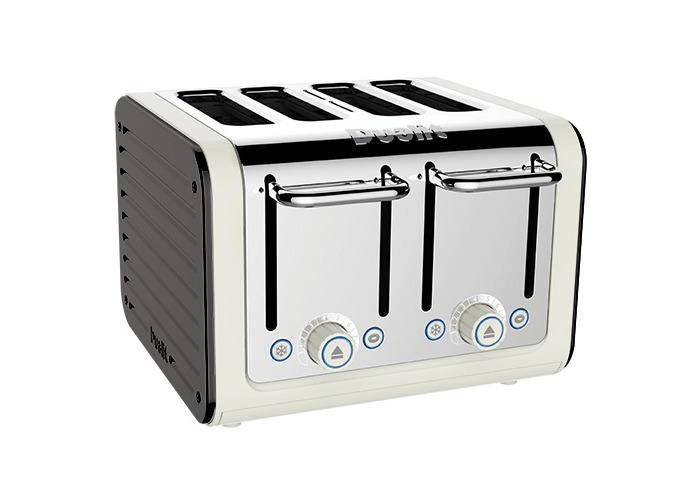Dualit Architect 4 Slot Canvas Body With Cobble Grey Panel Toaster - 1