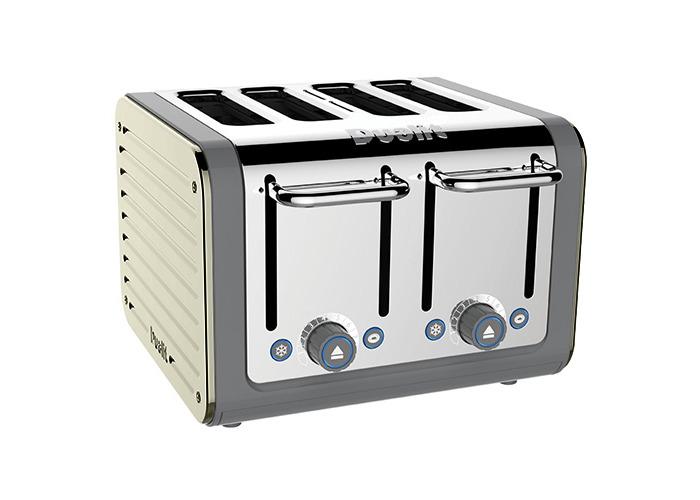 Dualit Architect 4 Slot Grey Body With Canvas White Panel Toaster - 1