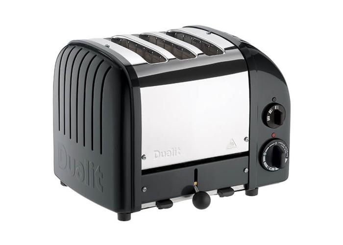 Dualit Classic Vario AWS Black 3 Slot Toaster - 2