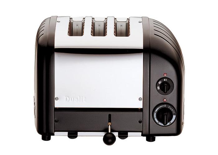 Dualit Classic Vario AWS Black 3 Slot Toaster - 1