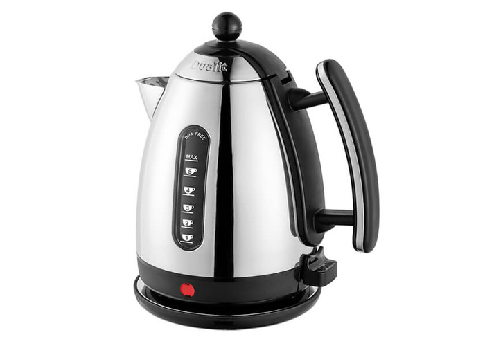 Dualit Polished Chrome Jug Kettle Black - 1