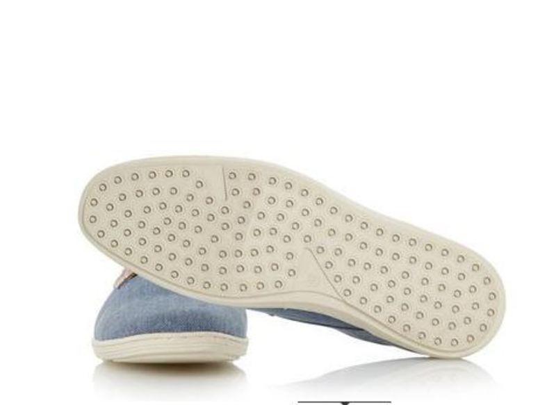 Dune Thomas Blue Canvas Shoe Mens Size 10 UK - 1
