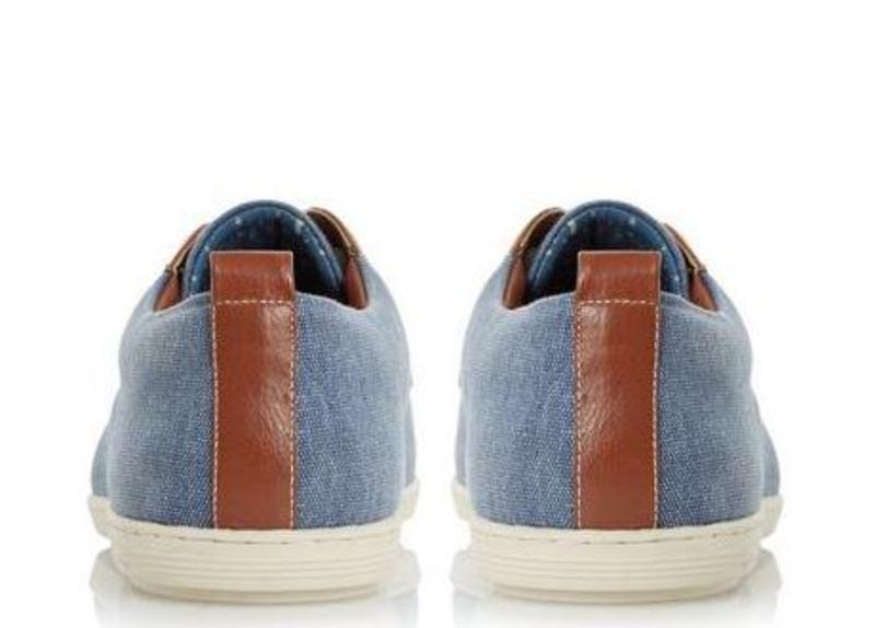 Dune Thomas Blue Canvas Shoe Mens Size 10 UK - 2