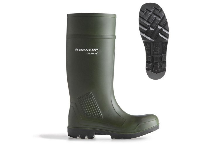 Dunlop C46293313 Purofort Full Safety Chemical Resistant Green Wellington Size 13 - 1