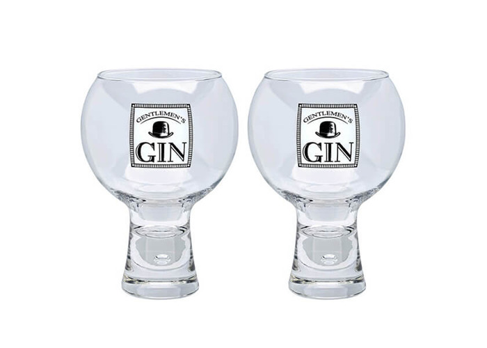 Durobor Alternato Bubble Base Set of 2 Gentlemans Gin Glasses Glass 540ml - 1