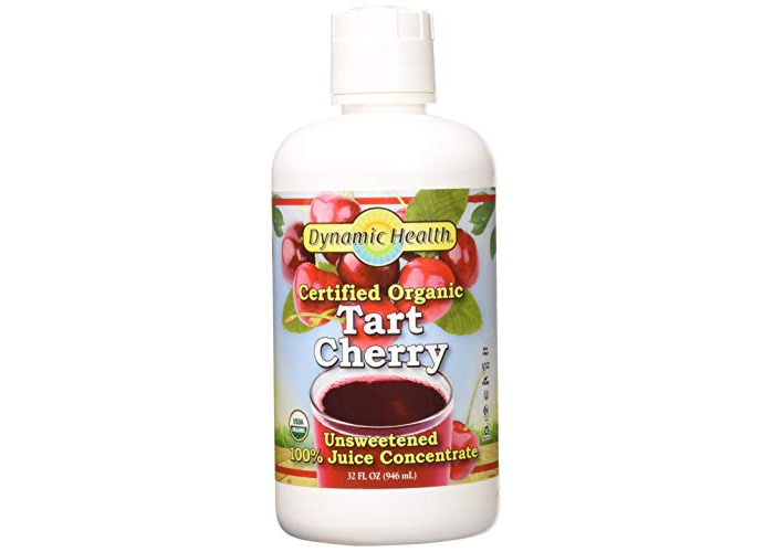 Dynamic Health Organic Tart Cherry Juice Concentrate | USDA Certified & 100% Pure | 32 Servings - 1