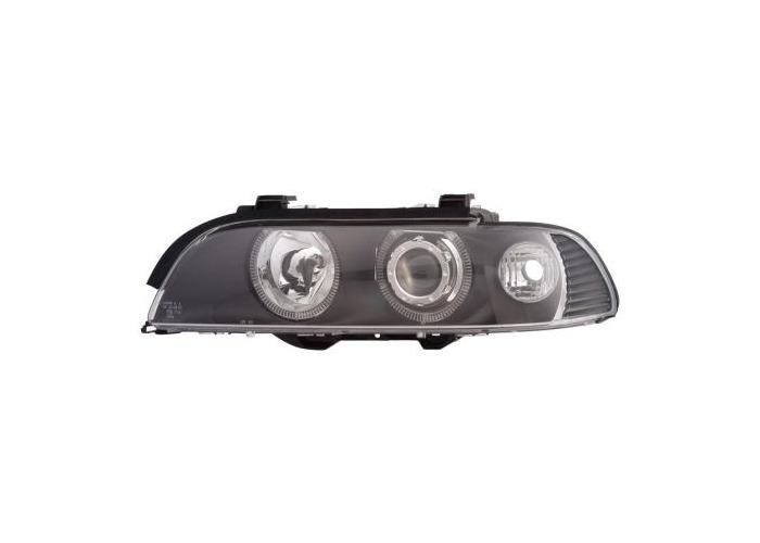 Eagle Eyes LHD Angel Eye Projector Headlights Black For BMW E39 1995-2000 - 1