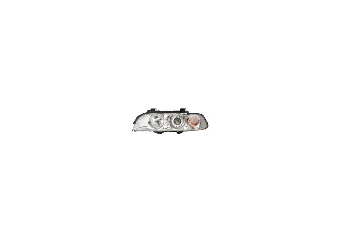 Eagle Eyes LHD Angel Eye Projector Headlights Clear Chrome For BMW E39 - 1