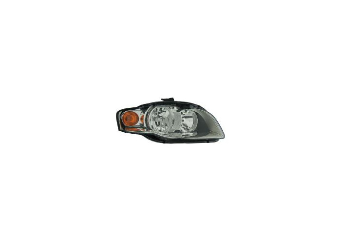 Eagle Eyes LHD Right Passenger Side Headlight Halogen For Audi A4 B7 04-08 - 1