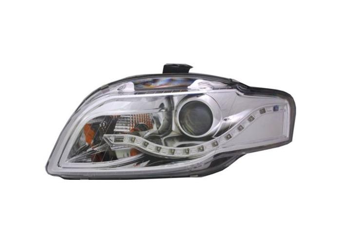 Eagle Eyes Rhd Projector Headlights LED DRL Chrome For Audi A4 B7 04-08 - 1