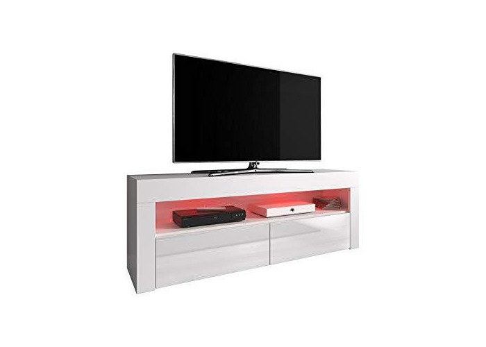 "e-Com - Aparador Moderno con 3 Puertas para Salón Armario Mueble""LUNA"" - 155 cm - Nuez/Negro - 1"