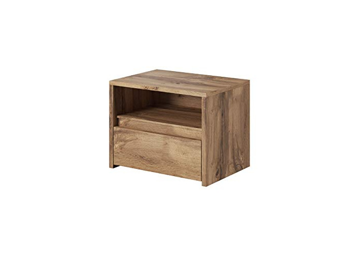 "e-Com - Bedside Tables Nightstands with Drawer""TAMAR"" - 44 x 57 x 44 cm (H x W x D) - Lefkas - 1"