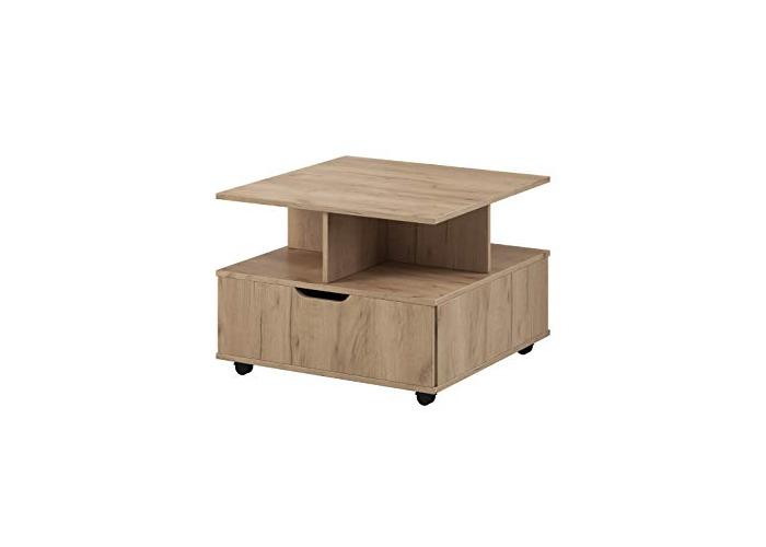 E-com - Coffee Table FINN - 67 x 67 cm - Oak Gold - 1