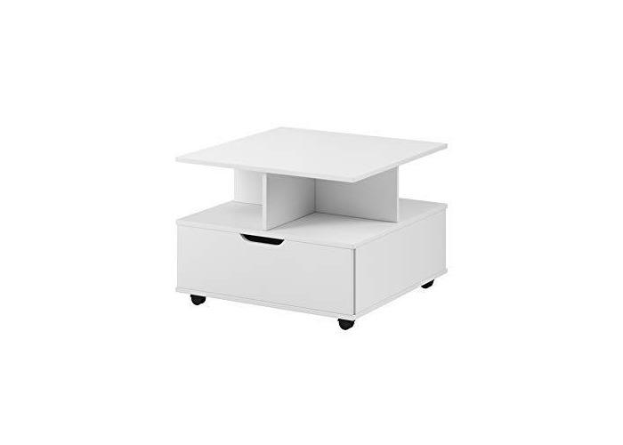 E-com - Coffee Table FINN - 67 x 67 cm - White - 1