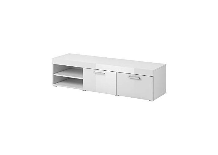 """e-Com - TV Unit Cabinet Stand Sideboard""""AVA"""" - 140 cm - White - 1"""