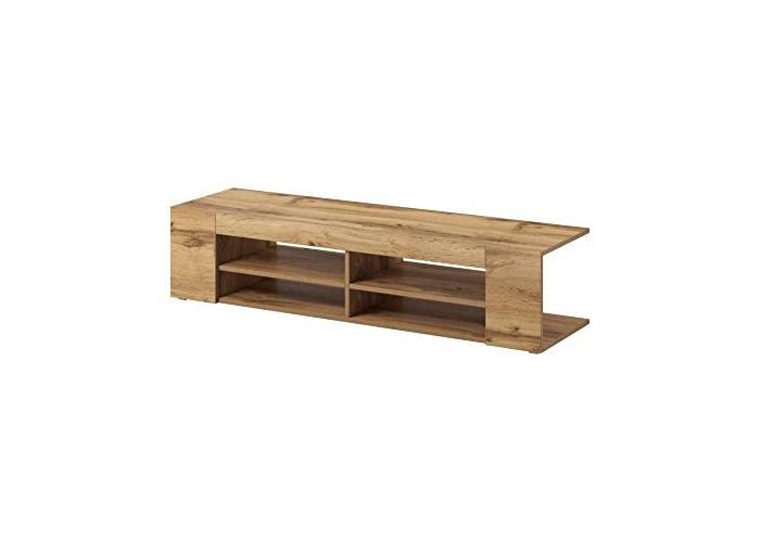 "e-Com - TV Unit Cabinet Stand Sideboard""NOVA"" - 140 cm - Appalachian Oak - 1"