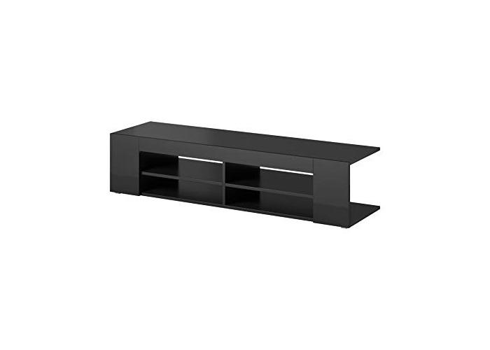 "e-Com - TV Unit Cabinet Stand Sideboard""NOVA"" - 140 cm - Black - 1"